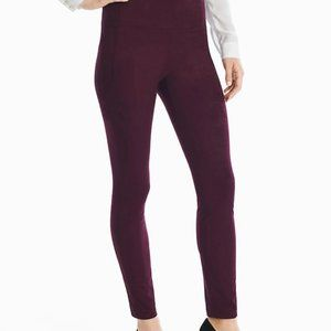 WHBM Wine Suede Leggings Size Extra-small Long